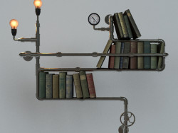 Bookshelf steampunk