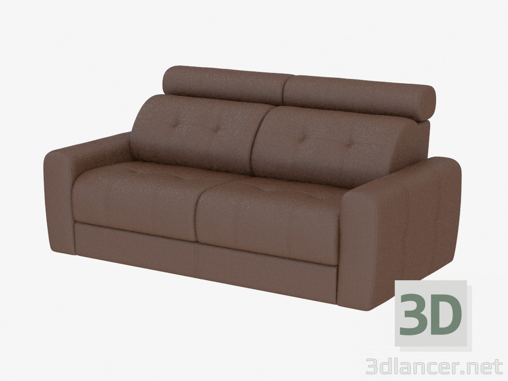 3d model Leather sofa with a headrest,Mobel&Zeit max(2013 ...