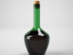 bottiglia di vino con tappo di sughero