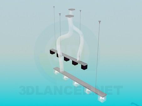 3d модель Подвесные светильники – превью