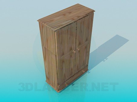 modelo 3D Gabinete bajo - escuchar