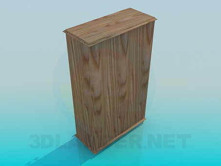 3d модель Невисокий шафа – превью