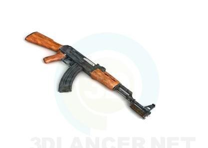 3D modeli Ак-47 - önizleme