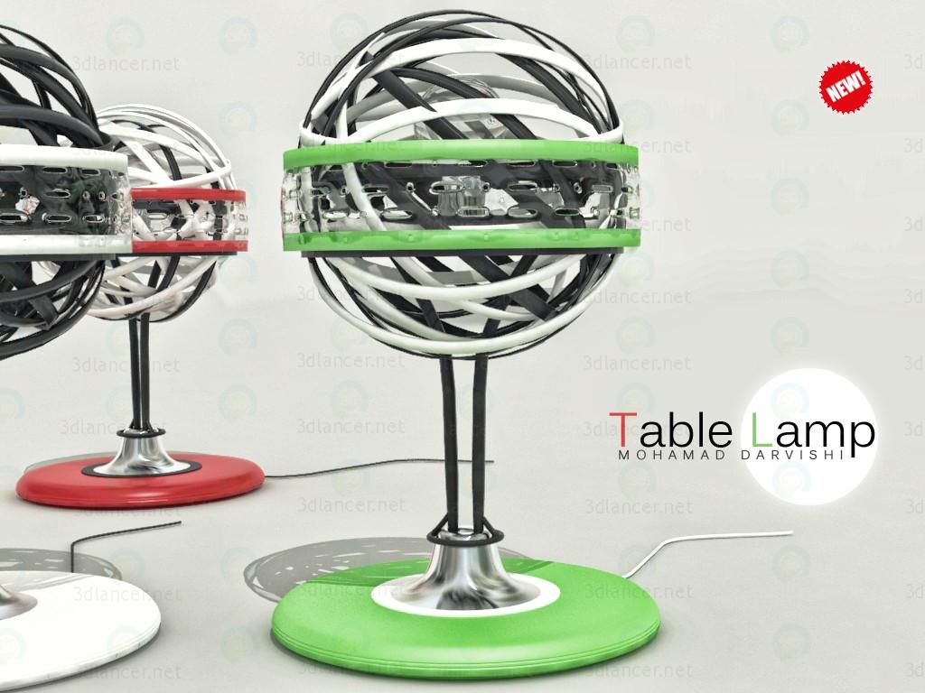 Настольная лампа 3d модель купить - рендер