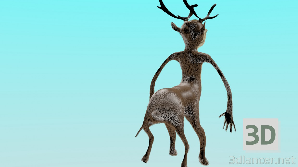 3d model young humanoid - preview