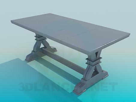 3d model Kitchen table - preview