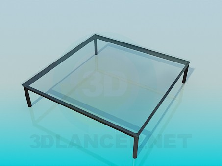 3d model Coffee table with glass top - preview