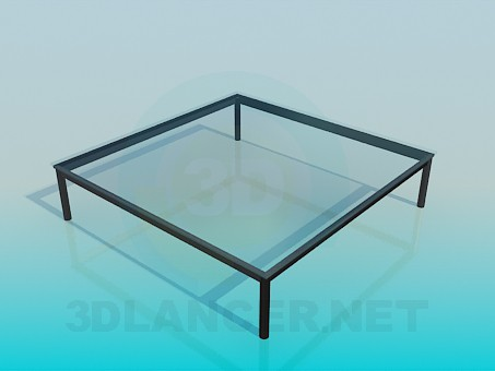 3d modeling Coffee table with glass top model free download