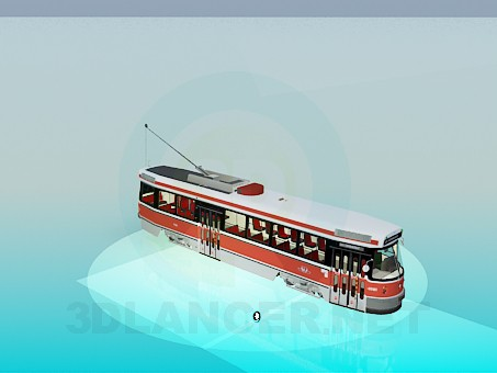 3d modeling Tram model free download