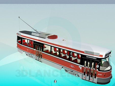 3d model Tram - preview