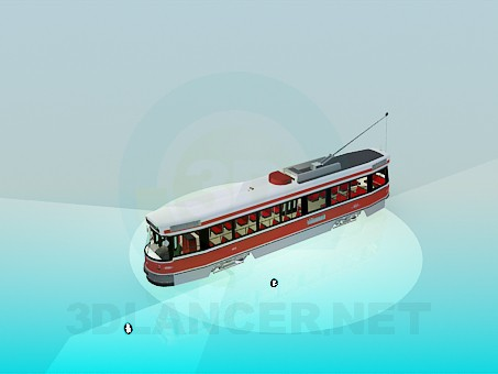 3d модель Трамвай – превью