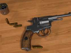Nagan - Revolver M1835 3D Low_Poly