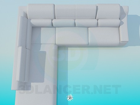 3d model Corner sofa with pads - preview