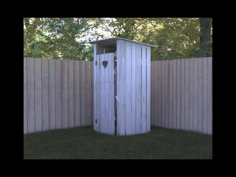 3d моделирование туалет деревенский модель скачать бесплатно