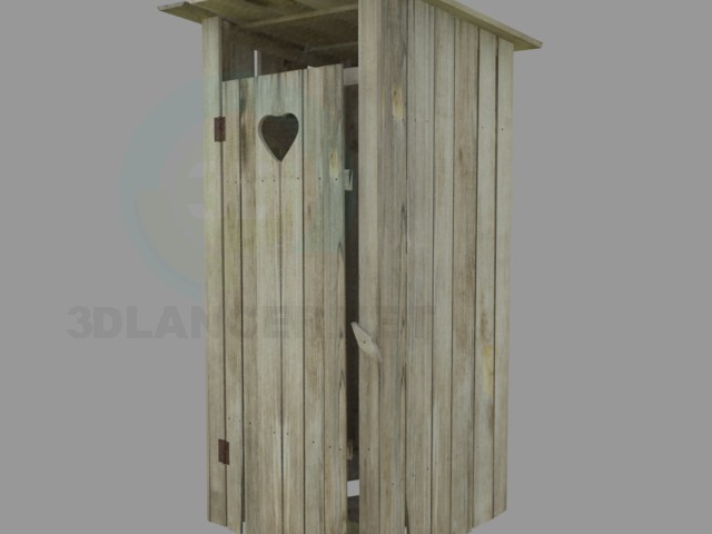 modelo 3D vieja aldea de WC - escuchar