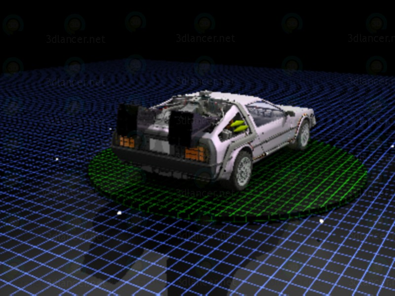 3d модель DeLorean – превью