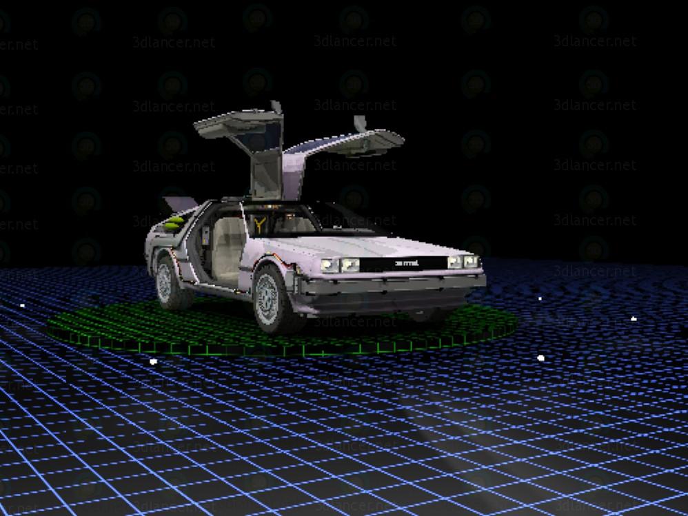3d модель Машина часу DeLorean – превью