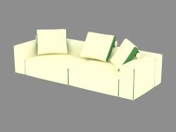 Canapé double modulaire