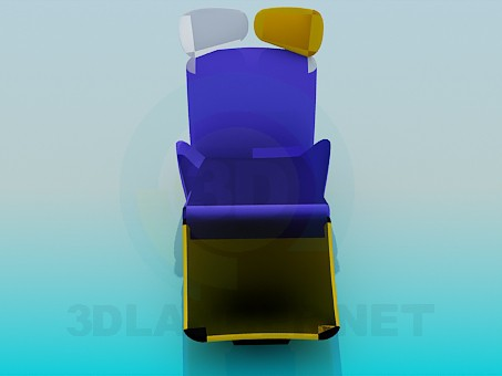 3d моделирование Топчан раскладной модель скачать бесплатно
