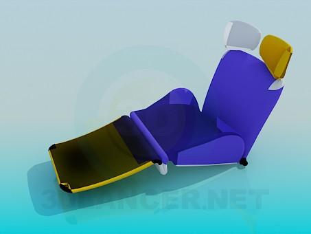 3d модель Топчан раскладной – превью