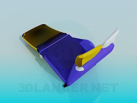 3d model Folding cot - preview
