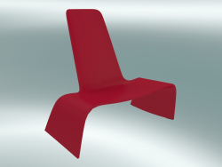 Fauteuil LAND lounge chair (1100-00, rouge trafic)
