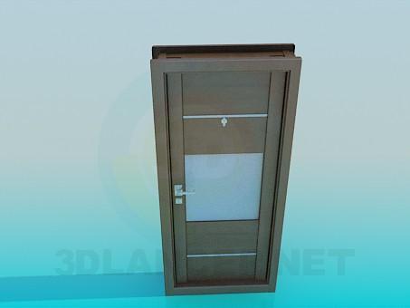 3d модель Дверь входная с вставкой – превью