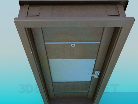 3d model Door entrance with insert - preview