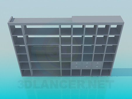 3d modeling Rack off books in the living room model free download