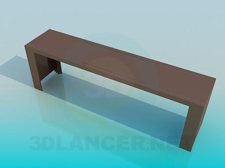 3d модель Длинный узкий стол – превью