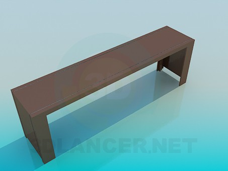 3d model A long narrow table - preview