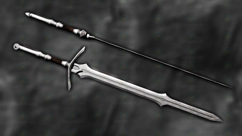 "Espada ""Apóstol"" 3D modelo Compro - render"