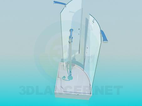 modelo 3D Duchas de agua - escuchar