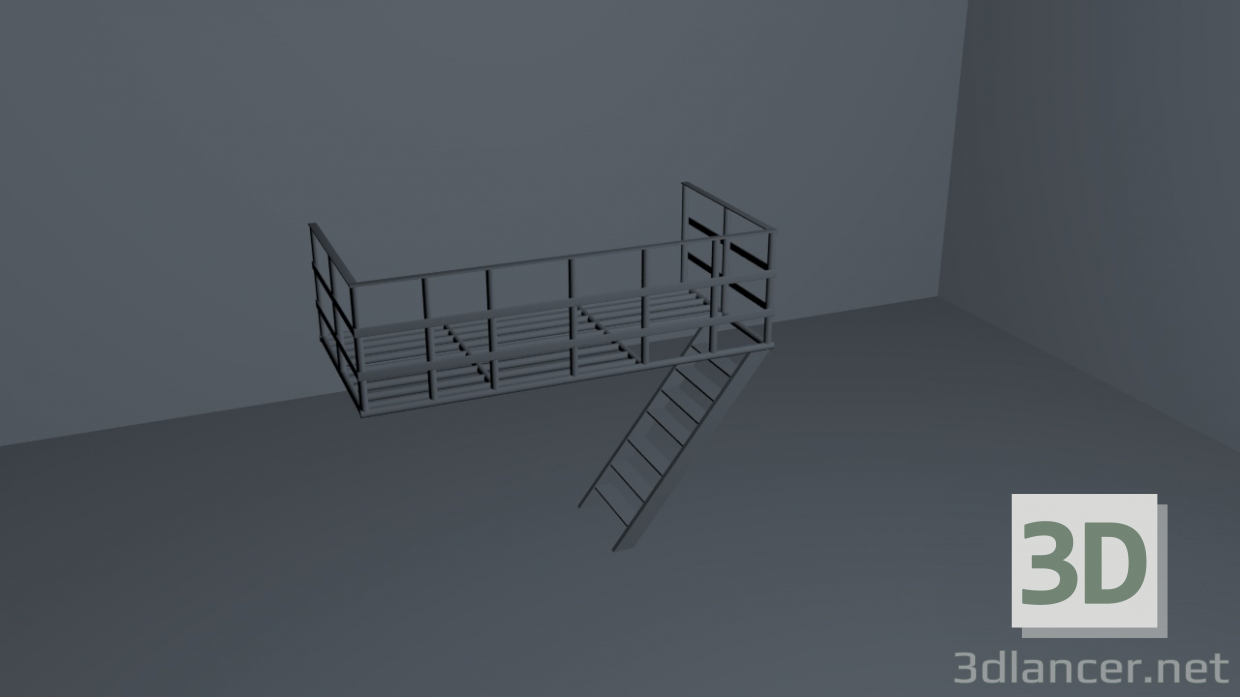 3d model Balcony - preview