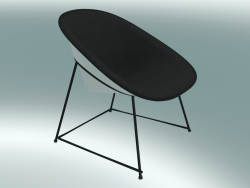 Chaise longue Chair CUP (1960-12, verniciato a polvere nero, ABS bianco)