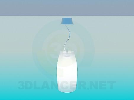3d моделирование Светильник с матовым плафоном модель скачать бесплатно