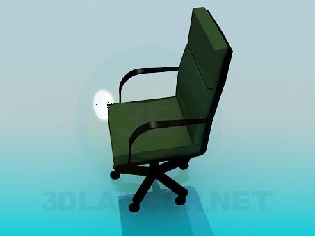 3d модель Офисное передвижное кресло – превью
