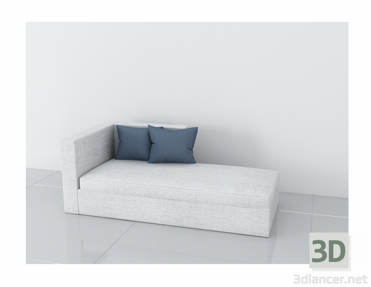 3d model white armchair - preview