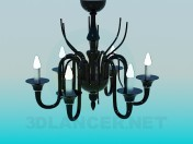 Chandelier made of black glass