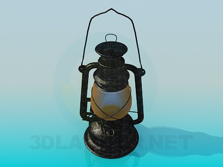 3d model Kerosene lamp - preview