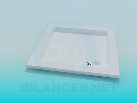 modelo 3D Plato de ducha cuadrado - escuchar