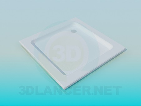 3d model Square shower tray - preview