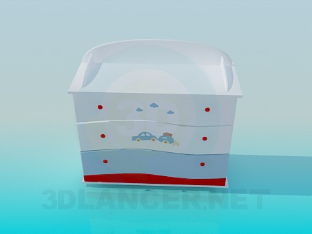 3d model Chest of drawers for a newborn - preview