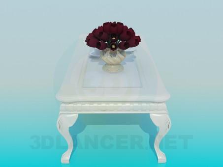 3d модель Антикварный столик – превью