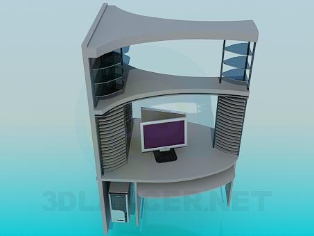 3d model Сomputer Desk - preview
