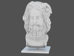 Marble head Head of Zeus Ammon