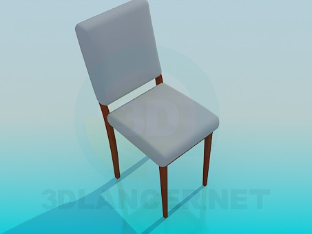 3d model Silla con asiento y respaldo - vista previa