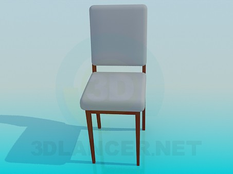 modelo 3D Silla con asiento y respaldo - escuchar