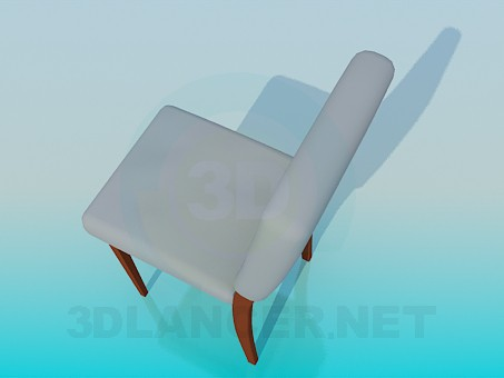 3d model Chair with seat and backrest - preview