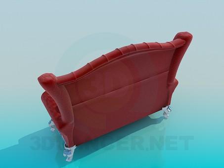 modelo 3D Sofa barroco - escuchar